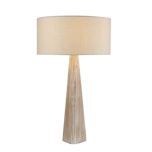 Bark Table Lamp, Wash Brown Base, Oatmeal Shade (Double Insulated) Bx1026Br-17